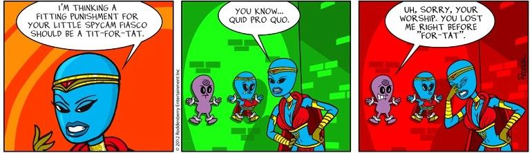 Strip 504: Quid Pro Quo